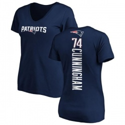 Women's Korey Cunningham New England Patriots Backer Slim Fit T-Shirt - Navy