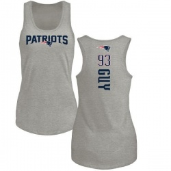 Women's Lawrence Guy New England Patriots Backer Tri-Blend Tank Top - Ash