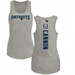 Women's Marcus Cannon New England Patriots Backer Tri-Blend Tank Top - Ash