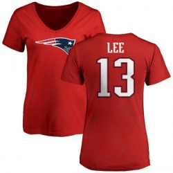 Women's Marqise Lee New England Patriots Name & Number Logo Slim Fit T-Shirt - Red