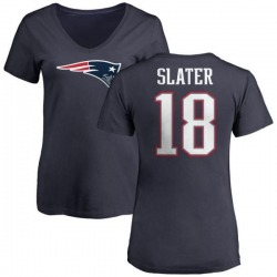 Women's Matthew Slater New England Patriots Name & Number Logo T-Shirt - Navy