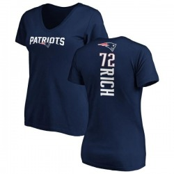 Women's Max Rich New England Patriots Backer Slim Fit T-Shirt - Navy