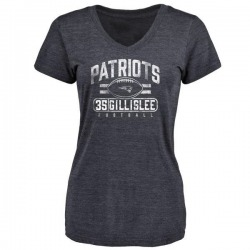 Women's Mike Gillislee New England Patriots Flanker Tri-Blend T-Shirt - Navy