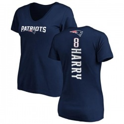 Women's N'Keal Harry New England Patriots Backer Slim Fit T-Shirt - Navy