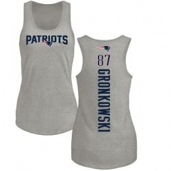 Women's Rob Gronkowski New England Patriots Backer Tri-Blend Tank Top - Ash
