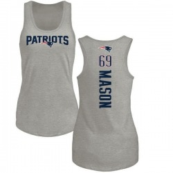 Women's Shaq Mason New England Patriots Backer Tri-Blend Tank Top - Ash