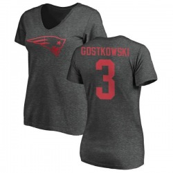 Women's Stephen Gostkowski New England Patriots One Color T-Shirt - Ash