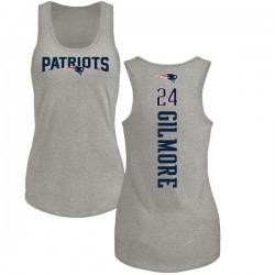 Women's Stephon Gilmore New England Patriots Backer Tri-Blend Tank Top - Ash