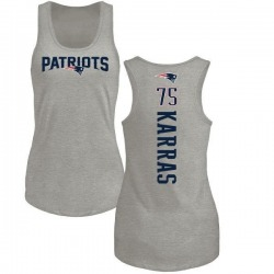 Women's Ted Karras New England Patriots Backer Tri-Blend Tank Top - Ash
