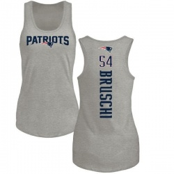 Women's Tedy Bruschi New England Patriots Backer Tri-Blend Tank Top - Ash
