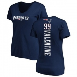 Women's Vincent Valentine New England Patriots Backer Slim Fit T-Shirt - Navy