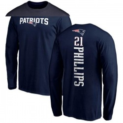 Youth Adrian Phillips New England Patriots Backer Long Sleeve T-Shirt - Navy
