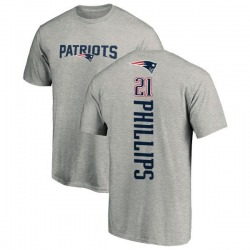 Youth Adrian Phillips New England Patriots Backer T-Shirt - Ash