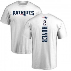 Youth Brian Hoyer New England Patriots Backer T-Shirt - White