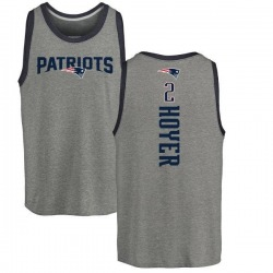 Youth Brian Hoyer New England Patriots Backer Tri-Blend Tank Top - Ash