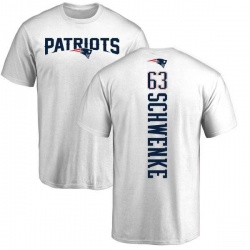 Youth Brian Schwenke New England Patriots Backer T-Shirt - White