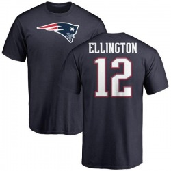 Youth Bruce Ellington New England Patriots Name & Number Logo T-Shirt - Navy