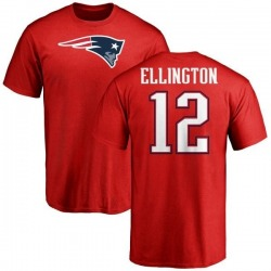 Youth Bruce Ellington New England Patriots Name & Number Logo T-Shirt - Red
