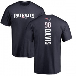 Youth Carl Davis New England Patriots Backer T-Shirt - Navy