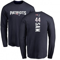 Youth Christian Sam New England Patriots Backer Long Sleeve T-Shirt - Navy