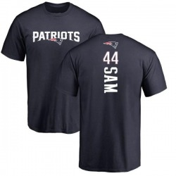 Youth Christian Sam New England Patriots Backer T-Shirt - Navy