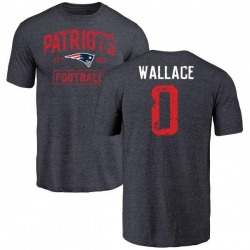 Youth Courtney Wallace New England Patriots Navy Distressed Name & Number Tri-Blend T-Shirt