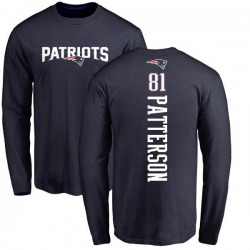 Youth Damoun Patterson New England Patriots Backer Long Sleeve T-Shirt - Navy