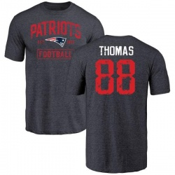 Youth Demaryius Thomas New England Patriots Navy Distressed Name & Number Tri-Blend T-Shirt