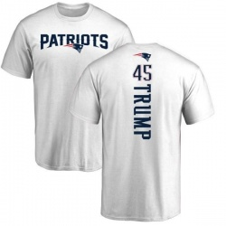 Youth Donald Trump New England Patriots Backer T-Shirt - White