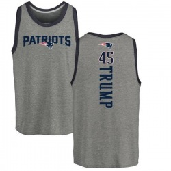 Youth Donald Trump New England Patriots Backer Tri-Blend Tank Top - Ash