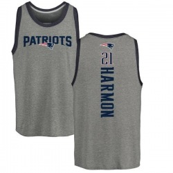 Youth Duron Harmon New England Patriots Backer Tri-Blend Tank Top - Ash