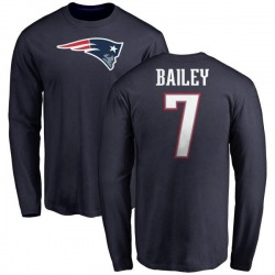 Youth Jake Bailey New England Patriots Name & Number Logo Long Sleeve T-Shirt - Navy