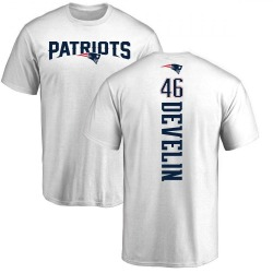 Youth James Develin New England Patriots Backer T-Shirt - White