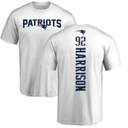 Youth James Harrison New England Patriots Backer T-Shirt - White