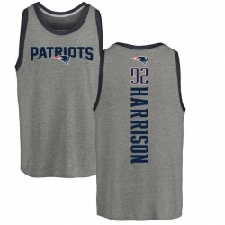 Youth James Harrison New England Patriots Backer Tri-Blend Tank Top - Ash