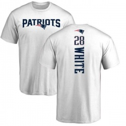 Youth James White New England Patriots Backer T-Shirt - White