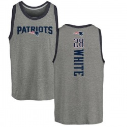 Youth James White New England Patriots Backer Tri-Blend Tank Top - Ash