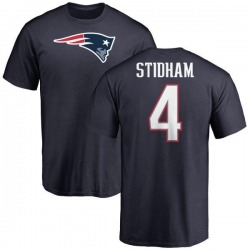 Youth Jarrett Stidham New England Patriots Name & Number Logo T-Shirt - Navy