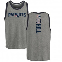 Youth Jeremy Hill New England Patriots Backer Tri-Blend Tank Top - Ash
