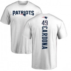 Youth Joe Cardona New England Patriots Backer T-Shirt - White