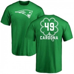 Youth Joe Cardona New England Patriots Green St. Patrick's Day Name & Number T-Shirt