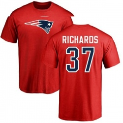 Youth Jordan Richards New England Patriots Name & Number Logo T-Shirt - Red