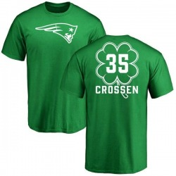 Youth Keion Crossen New England Patriots Green St. Patrick's Day Name & Number T-Shirt