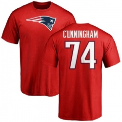 Youth Korey Cunningham New England Patriots Name & Number Logo T-Shirt - Red