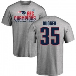 Youth Kyle Dugger New England Patriots 2017 AFC Champions T-Shirt - Heathered Gray