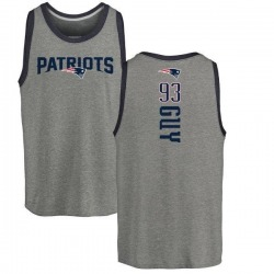 Youth Lawrence Guy New England Patriots Backer Tri-Blend Tank Top - Ash