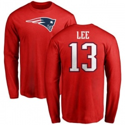 Youth Marqise Lee New England Patriots Name & Number Logo Long Sleeve T-Shirt - Red
