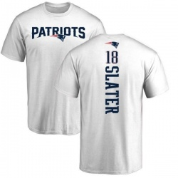 Youth Matthew Slater New England Patriots Backer T-Shirt - White