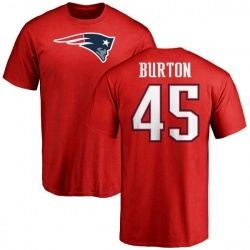 Youth Michael Burton New England Patriots Name & Number Logo T-Shirt - Red
