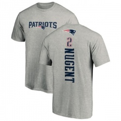 Youth Mike Nugent New England Patriots Backer T-Shirt - Ash